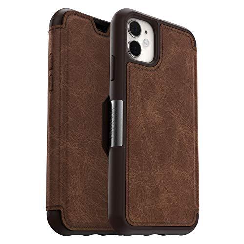 OtterBox für Apple iPhone 11, Premium Folio-Schutzhülle aus Leder, Strada Serie, Braun