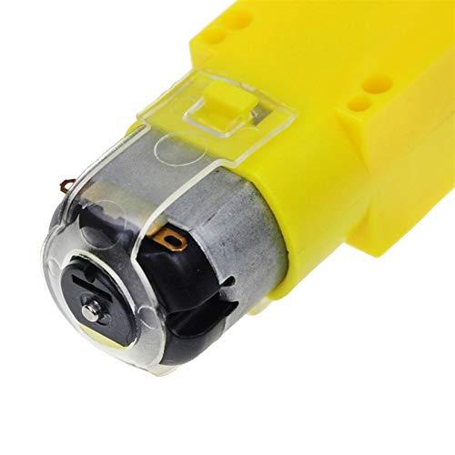 L-Yune,bolt 1pc TT Motor Smart-Auto-Roboter-Getriebemotor for Arduino Bausatz Räder Smart Car Chassis Motor Roboter Fernbedienung Auto DC-Getriebemotor (Größe : TT Motor)