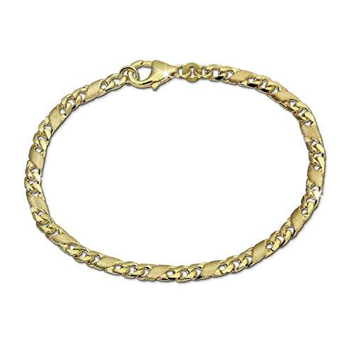 GoldDream Armband Dollar 19cm 8 Karat 333er Gelbgold Damenschmuck D2GDA0449Y ein schönes Geschenk zu Weihnachten, Geburtstag, Valentinstag für die Frau, für den Mann