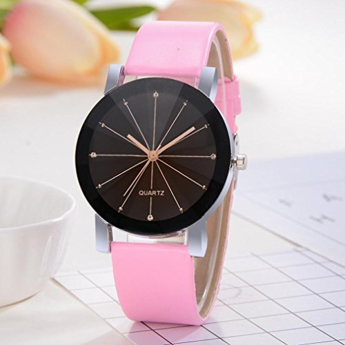Promotions - Man Watch, Casual Sports Quartz Watch - Leather Band Strap Watch - Fashion Analog Wrist Watch (Rose)