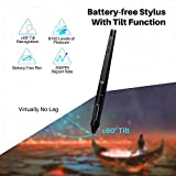 HUION KAMVAS Pro 16 Graphics Drawing Tablet with Screen Full-Laminated Tilt Battery-Free Stylus Touch Bar Adjustable Stand, Compatible with Windows, Mac and Chromebook, 15.6inch Pen Display