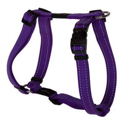 iPet Arnés Reflectante para Perros y Cachorros de Todos los tamaños | Arneses de Nylon con Forma de H en Diferentes Tallas y Colores | Arnés para Perro Antitirones (L: 2 x 35-50 cm, Morado)
