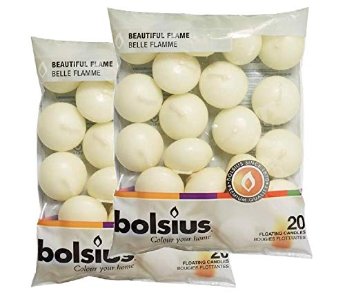 Bolsius Floating Candles x 40 in Ivory