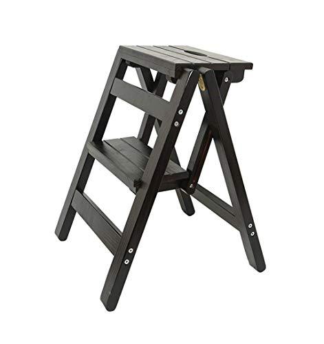 GUOXY Kreative Stehleitern Innovative Falt Falt Büchertische Multifunktionsholzleiter Küche Hocker Leiter Leiter Mit 2 Treppen,C,C