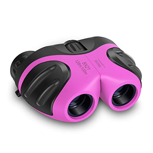 meet sun Binoculars Toys for Children,Birthday Gifts for 4-9 Years Old Girls for Outdoor Play,5-12 Old Year Girls Boys Presents,Best Gift for Kids Hunting,Learning (Pink)