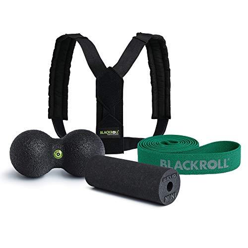 BLACKROLL® HOMEOFFICE Set Advanced- Fit & Schmerzfrei am Arbeitsplatz. Hilfmittel für Haltung, Dehnübungen und Regeneration der Muskeln