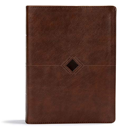 CSB Day-By-Day Chronological Bible, Brown Leathertouch: Black Letter, 365 Days, One Year, Ribbon Marker, Sewn Binding, Easy-To-Read Bible Serif Type