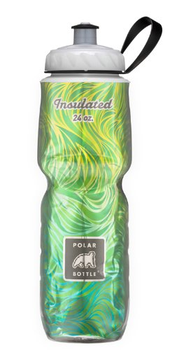 Polar Bottle Insulated Water Bottle 24 oz - 100% BPA-Free Cycling and Sports Water Bottle - Dishwasher & Freezer Safe (Lemon Grass, 24 ounce)