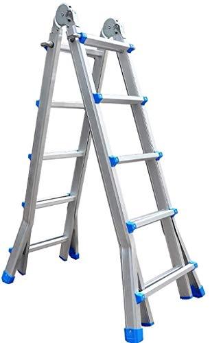 WYKDL Escalera Multi-función de extensión Plegable del hogar Escalera de Aluminio de aleación de Engrosamiento Escalera de elevación Ingeniería Escalera Escaleras Velocidad Multi-Uso de Las escaleras