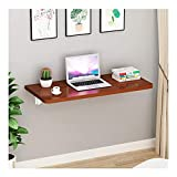 Wall Mounted Dining Table, Wooden Folding Table with Metal Support Frame, Stable and Easy to Install Narrow Card Table, Wall Mounted Table Fold Down (Size : 120cm×30cm)