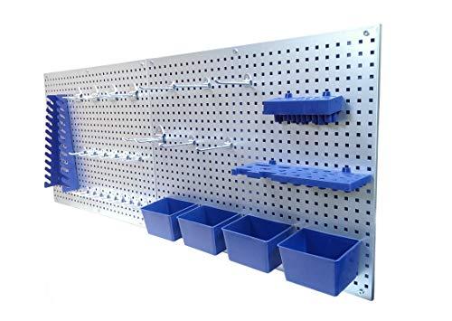 Werkzeugwand Lochwand Werkstattwand Werkstatt mit Hakensortiment 32 Teile