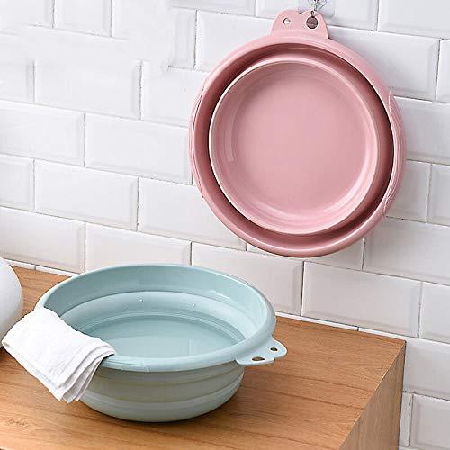 Lavabo domestique pliable, bassin en plastique pour cuisine et salle de bain, bassin pour légumes, extension de silicone et bassin de voyage portable à compression, bain de pieds-28,5 * 9 cm
