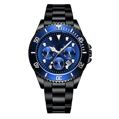 HONGXIGUAN Groen RVS Horloge Man Horloges Quartz Klok Lichtgevende Waterdichte Kalender Datum Mannen Sport Stijl