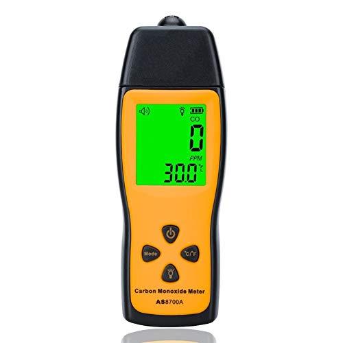 no-branded Kohlenmonoxid-Messgerät Hand CO Gas-Leck-Detektor Gas Analyzer High Precision Detector Gas Monitor Tester 1000ppm XXYHYQHJD (Color : AS8700A, Size : Kostenlos)