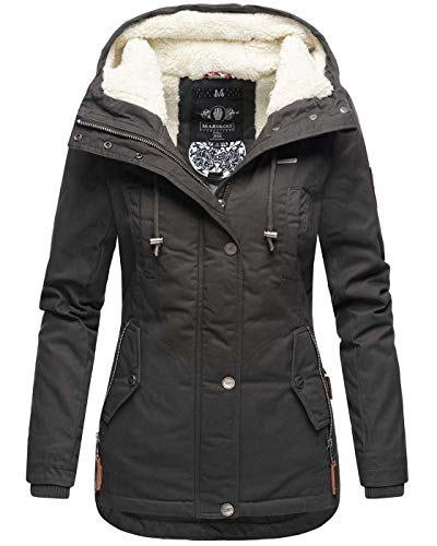 Marikoo warme dames winter jas teddyfell gevoerde winterjas B802