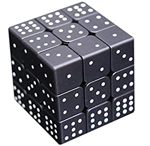 """3x3x3 Speed Cube 3D Relief Effect Sudoku Braille Magic Cube Puzzle,IQ Reasoning Games Puzzles Special for The Blind Person,Weak Vision, 5.6cm/2.2"""""""