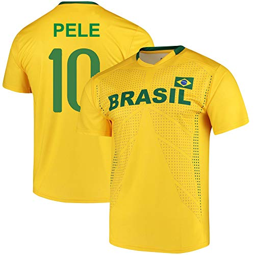 Pele Brazil National Team Replica Jersey (Youth Medium (10-12)) Yellow
