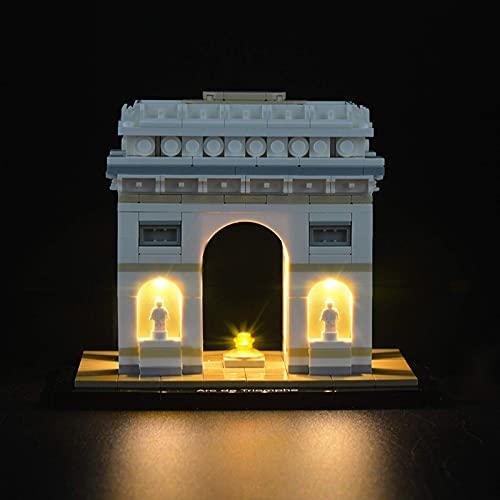 KCGNBQING LED-Beleuchtungsset für Lego Architektur arc de Triomphe- kompatibel mit Lego 21036 Bausteine Modell Puzzle-Baugruppe
