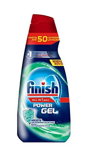 Finish All in 1 Max Power Gel Higiene Detergente Gel Lavavajilla - 50 dosis