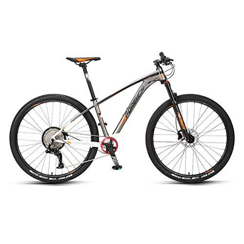 JKCKHA Bicicleta De Montaña para Adultos Sport and Expert, Ruedas De 29 Pulgadas, Cuadro De Aleación De Aluminio, Frenos Hidráulicos De Disco, Todo Terreno Bicicletas De Montaña,Naranja