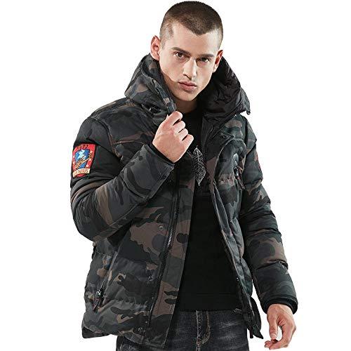 Heren winter dikke parka jassen katoen mantel camouflage jassen