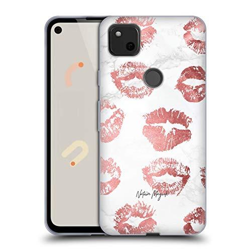 Head Case Designs sous Licence Officielle Nature Magick Rose Gold Lips Marble Love Lipstick Lips Coque en Gel Doux Compatible avec Google Pixel 4a