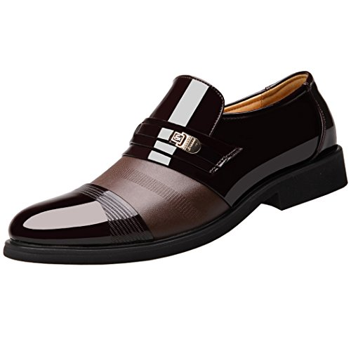 Mocasines de Cuero para Hombre Elegante Oxfords Zapatos para Vestido Formal Negocio Fiesta Boda