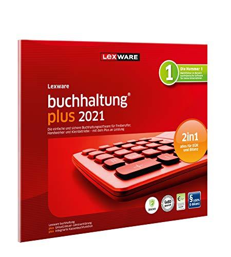 Lexware buchhaltung 2021|plus-Version in frustfreier Verpackung (Jahreslizenz)|Einfache Buchhaltungs-Software für Freiberufler|Kompatibel mit Windows 8.1 oder aktueller|Plus|1|1 Jahr|PC|Disc