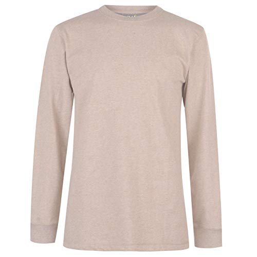 Gelert Hommes Sweat Pull Col Rond Manches Longues Beige XXL