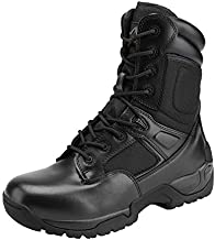 NORTIV 8 Men's Military Tactical Work Boots Side Zip Hiking Motorcycle Combat Boots Black Size 12 M US Response