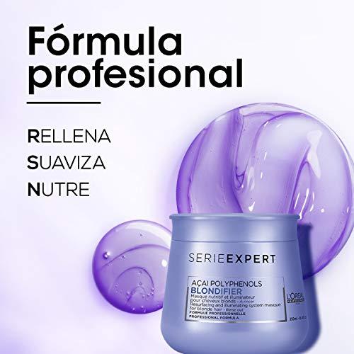 L'Oréal Professionnel - Mascarilla Blondifier Restauradora e Iluminadora para todos los Cabellos Rubios - 250 ml