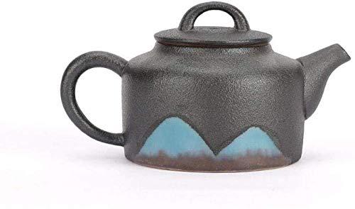 Yruog Tetera Tetera de cerámica Teteras Tetera de cerámica Cerámica negra Tetera japonesa Juego de té simple de Kung Fu Cerámica Hecho a mano Accesorios individuales