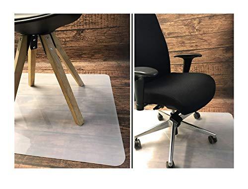 Bodenschutzmatte 120 x 80 cm – strapazierfähige Bürostuhl Unterlage aus Kunststoff, 1,5 mm stark, milchweiß, Polyethylen, Stuhlunterlage, FORTENA