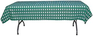 12-Pack Printed Teal Gingham Checkerboard plastic tablecloth cover