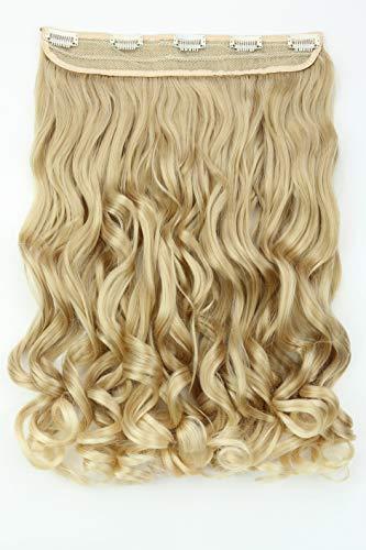 PRETTYSHOP Prettyshop 40cm clip in extensions haarverlängerung haarteil voluminös gewellt blond mix c54-1