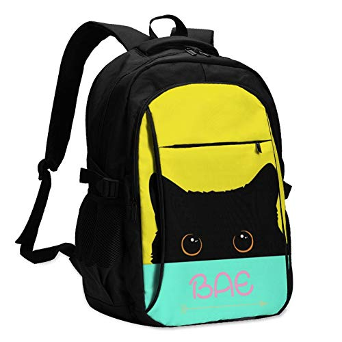 Best Aunt Ever BAE Auntie Mens Woman's Travel Women & Men Backpack with USB Charging Interface Casual School Shoulder Bag