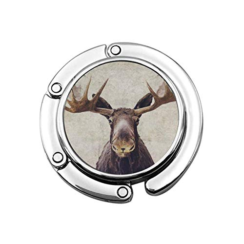 Moose Folding Womens Handbag Hanger Desk Purse Hook Holder
