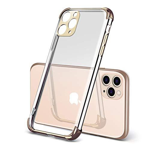 Capa Grandcase para iPhone 11 Pro Max, gel de sílica TPU quatro cantos antiqueda tudo incluso antiarranhões à prova de choque Airbag capa protetora para iPhone 11 Pro Max 6,5 polegadas – Ouro