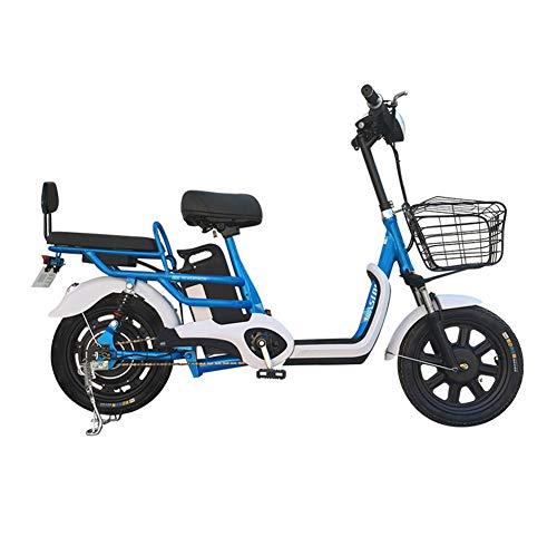 """CYC 16""""Elektro-Citybike Doppel-Mountainbike 350W Abnehmbar 48V 15 Ah Lithium-Ionen-Batterie Kann 200 kg Fernschlossauto tragen Pendlerfahrrad Geeignet für den städtischen Pendelverkehr usw,Blau"""