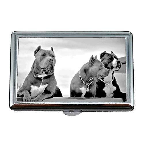 Mode-Geschäfts-Zigarettenschachtel, französischer Bulldoggen-Welpen-Hund Netter Haustier Pitbull Hund, RFID, der Kreditkartenhalter blockiert