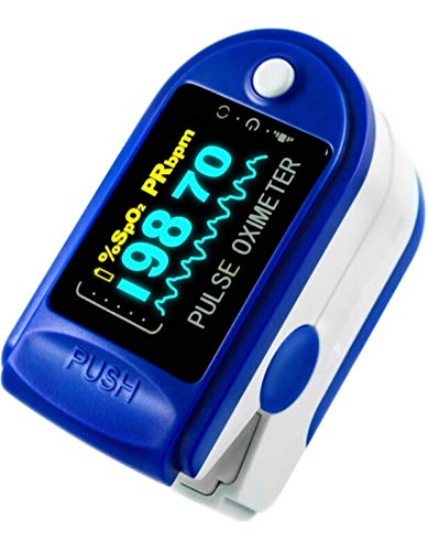 Fingertip Pulse Oximeter, Oxygen Saturation Monitor with Colour Display -...