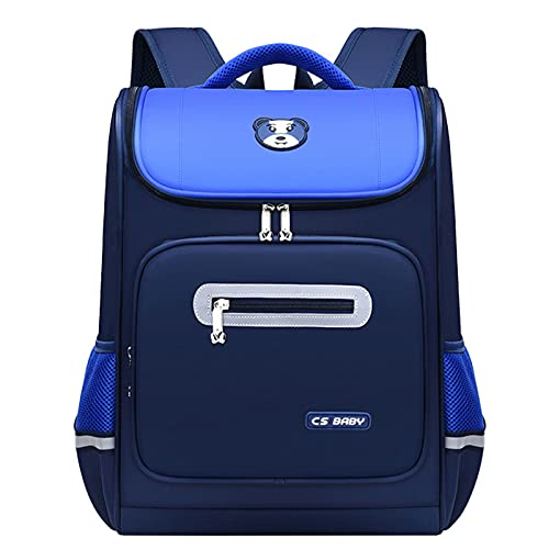 JUNJUN Oxford Cloth Casual Backpack-Girls School Bag School Mochila Sistema con Bolsa De Almuerzo Adecuado para Estudiantes De 1º-6º Grado(Size:42 * 32 * 20cm,Color:Azul)