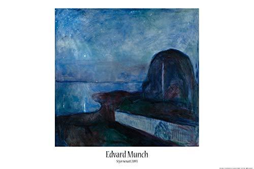 1art1 Edvard Munch - Sternennacht, 1893 Poster 91 x 61 cm