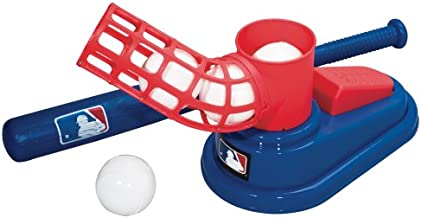 Franklin Sports MLB Baseball Pop A Pitch - Includes 25 Inch Collapsible Plastic Bat and 3 Plastic Baseballs