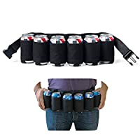 Der Six Pack Beer Belt ist der perfekte Gürtel, um ihn am Renntag, einer Tailgating-Party, einer Partysitzung oder einer Familienfeier zu tragen. Passt sich an jede Taille zwischen 82-120cm an Bequem, versteckte Tasche mit Reißverschluss für die Aufb...