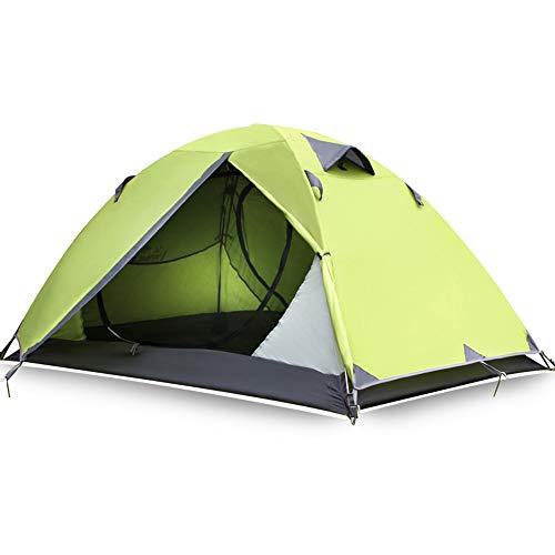 Tents de Camping 2 Personnes de Camping ultralégère extérieure Poteau léger en Aluminium Imperméable Coupe-Vent Portable léger pour la randonnée Randonnées à Travers Camping