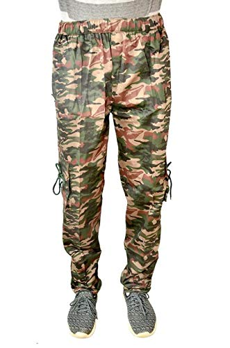 EK UDAAN Men's Cotton Army Print Camouflage Combat Dori Style Relaxed Fit Cargo (Green, Free Size)