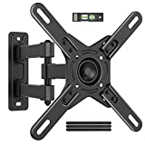 """Full Motion TV Mount Monitor Wall Mount Bracket for Most 17-42"""" LED LCD, Swivel Tilt Articulating Arms Extension Rotation for Flat/Curved Screen TVs&Monitors, Max VESA 200x200mm Holding Up to 45lbs"""