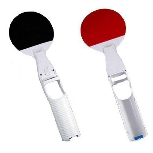 2x Ping Pong Controller Tischtennisschläger Für Nintendo Wii Tischtennis