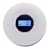 SXCLS Alarma de Gas, Humo y monóxido de Carbono de Alarma, 4.5V de Pared CO Alarma Batería for la Cocina casera, Dormitorio (Blanco)